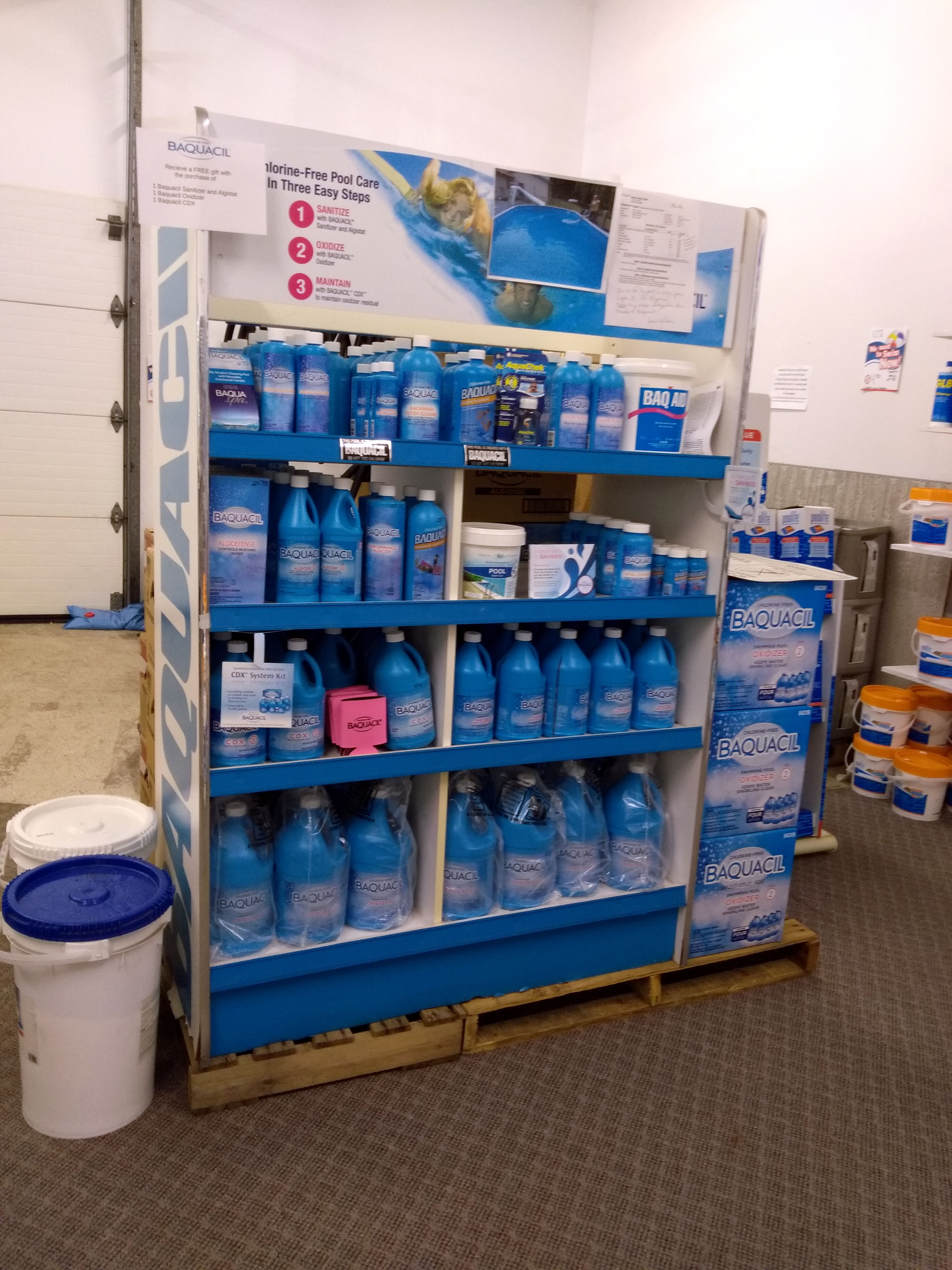 Baquacil Line of Pool Care products